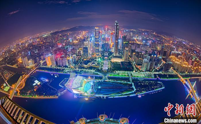 广州海心沙夜景(资料图)。 广州市文化广电旅游局 供图